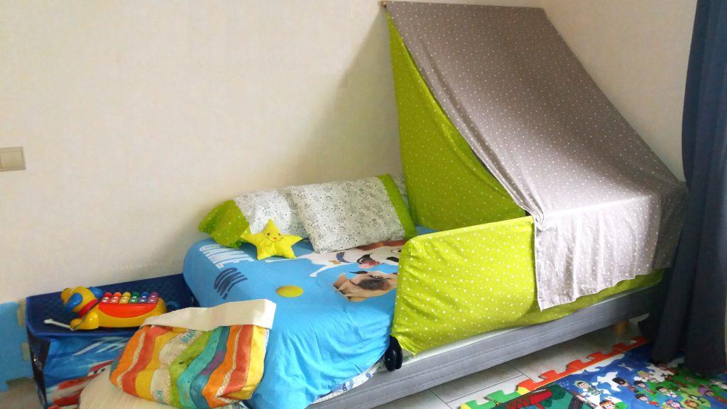 Mes premières créations textiles, étoiles, tente de lit, housses, sacs