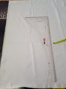 Traçage des rectangles à la règle de couture