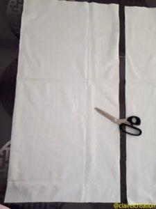 Découpe des rectangles 42 x 82 cm