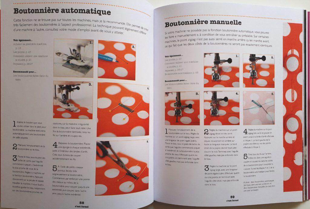 Coudre à la machine - Un livre pour apprendre à coudre . Des pas à pas avec de belles images, des conseils avisés.