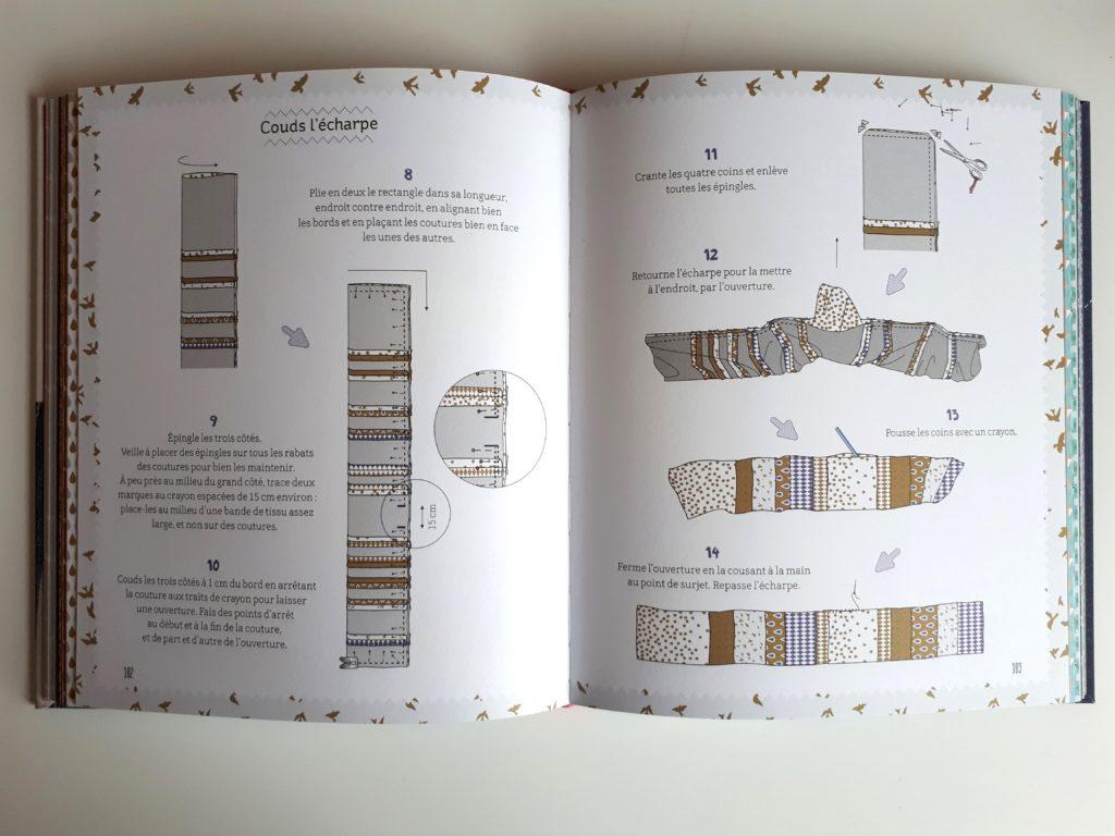 Mes premiers ateliers de couture - coudre une écharpe - pour les débutants - Un super livre pour apprendre à coudre