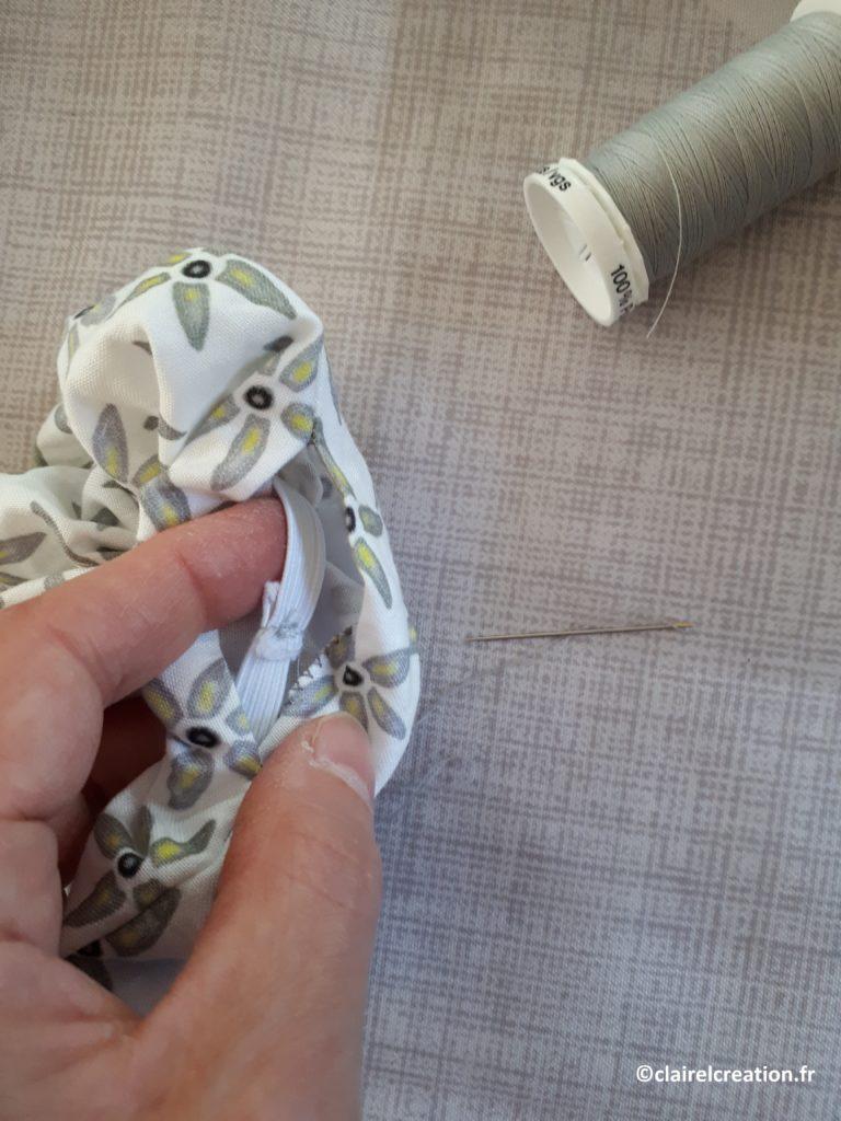Couture de l'élastique plat à la main 1