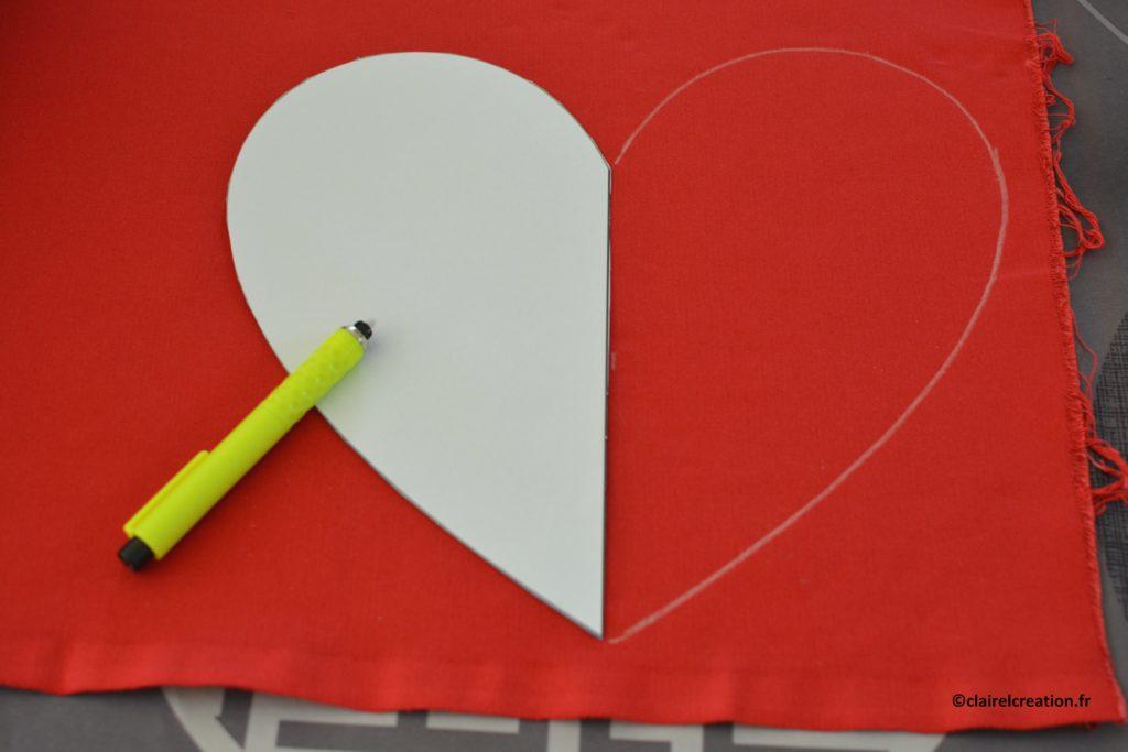 Traçage de la deuxième moitié du coeur