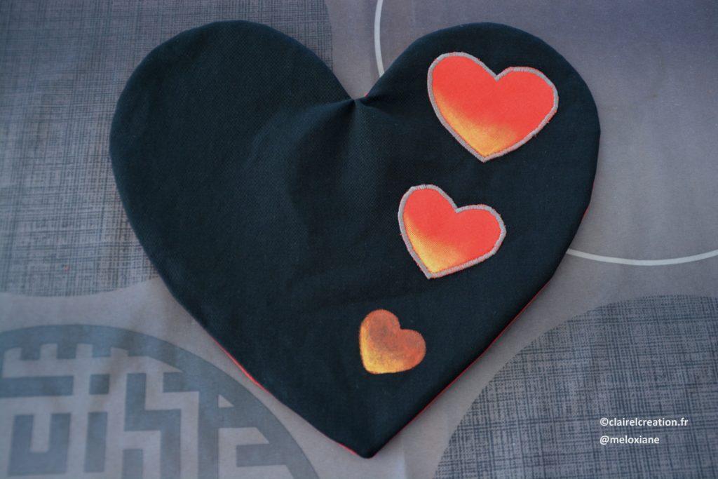 Coeur face noire après retournement