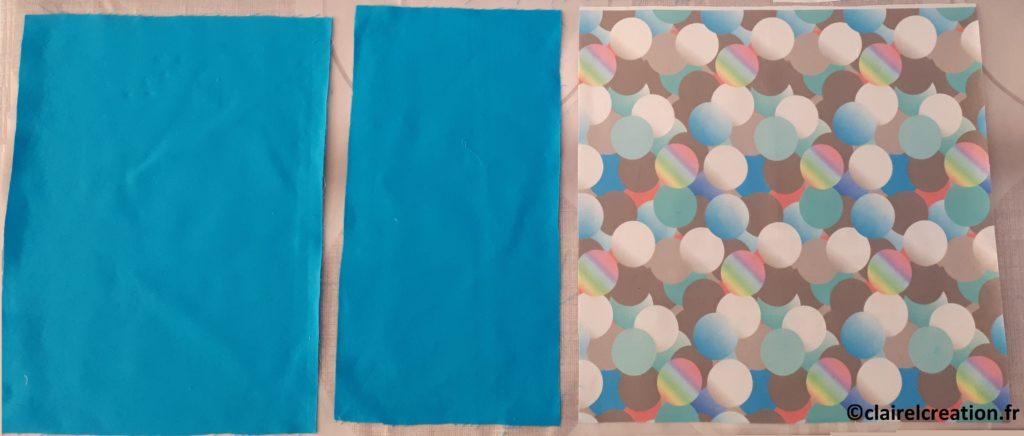 Coupons de tissu pour la housse de coussin portefeuille à deux faces différentes