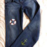 Déco feutre et peinture de mon pantalon