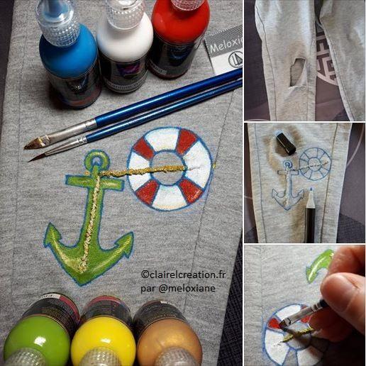 Réparation créative du pantalon de mon garçon de 4 ans
