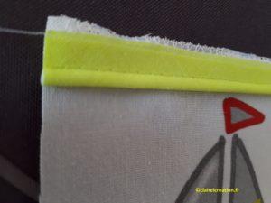 Sac pochon: bords du passepoil vers le bord du tissu (2)