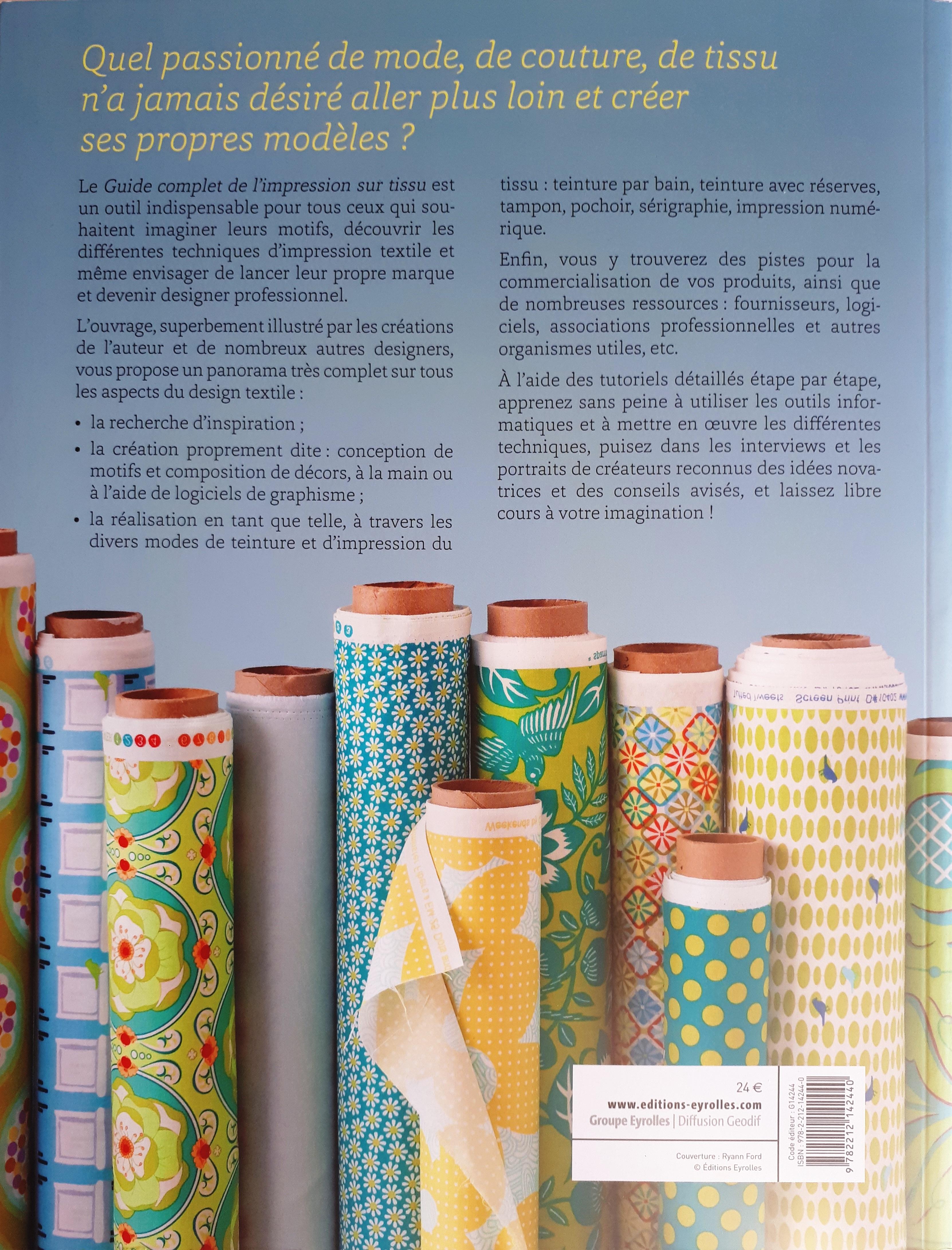 Guide complet de l'impression sur tissu (dos du livre )