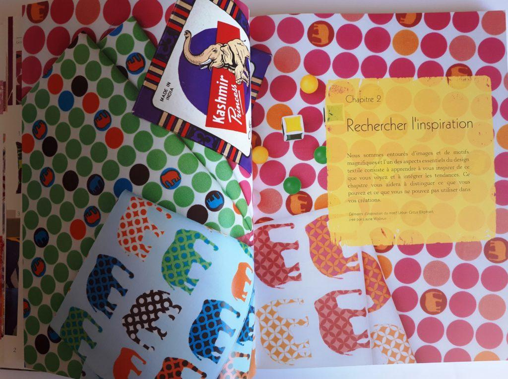 Guide complet de l'impression sur tissu : un livre riche en couleurs et en motifs