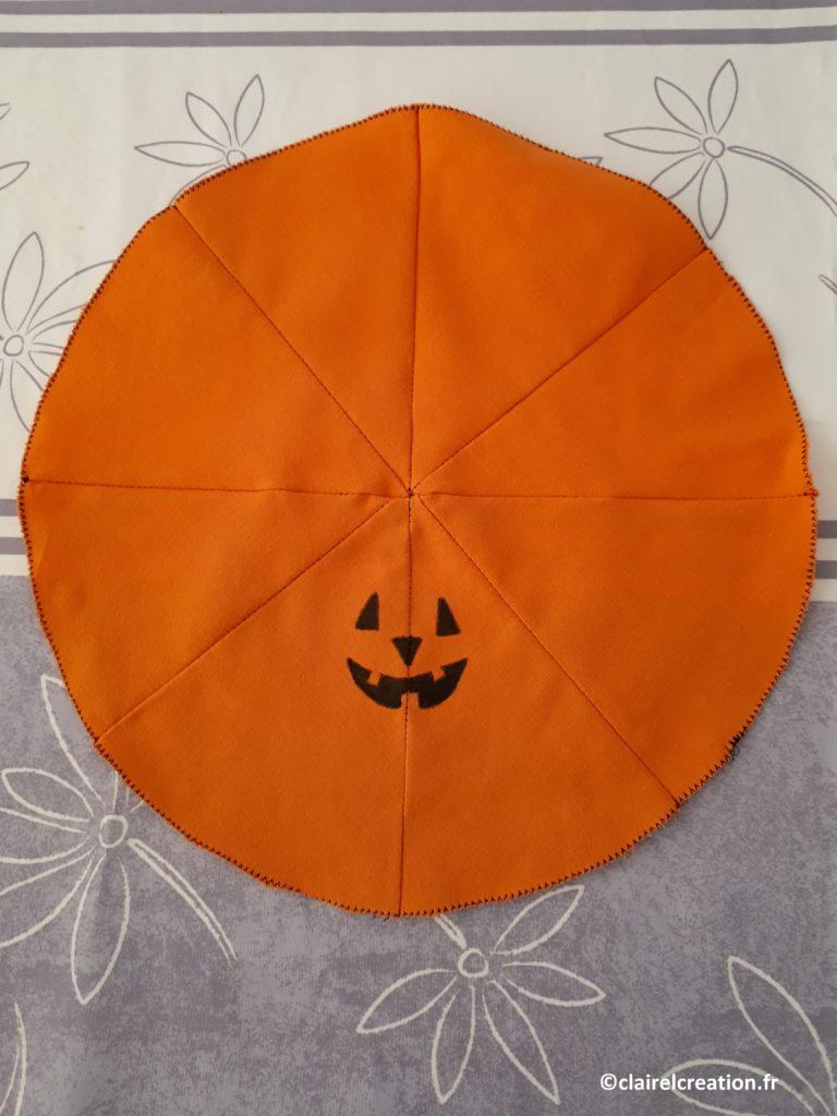 Emplacement du visage de la citrouille d'Halloween