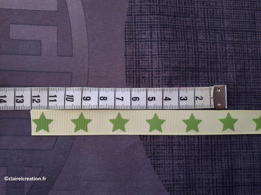 Couvercle en tissu : coupe du ruban (10 ou 12 cm)