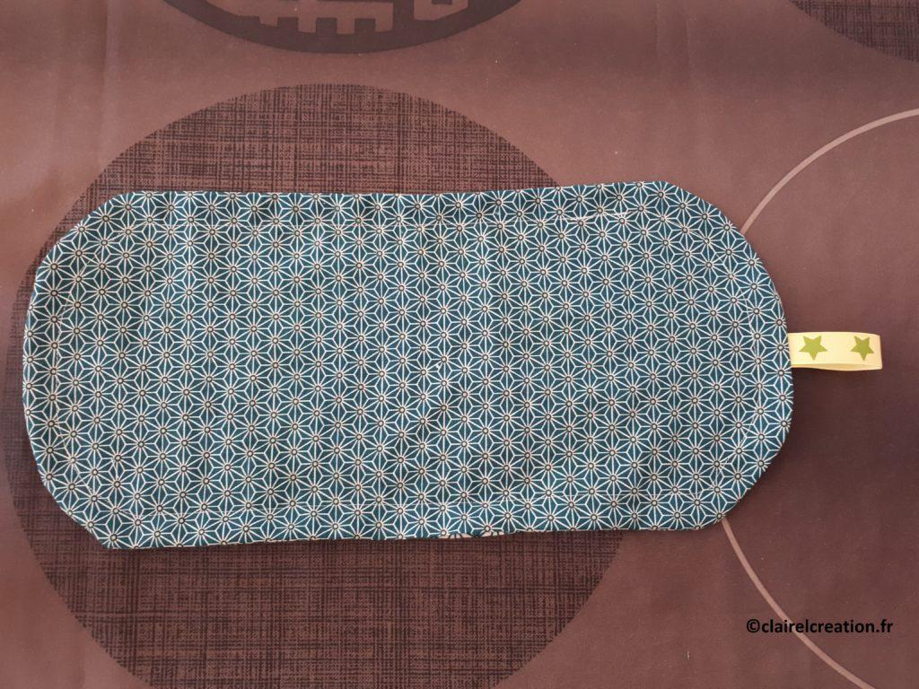 Couvercle en tissu : résultat avant enfilage de l'élastique