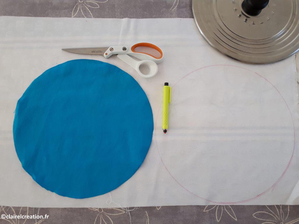Traçage et découpe des tissus de la bouée