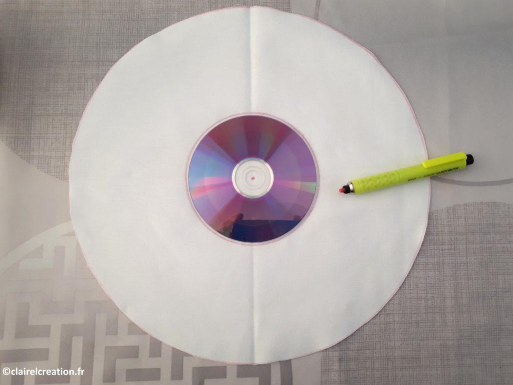 Traçage du cercle intérieur avec le CD