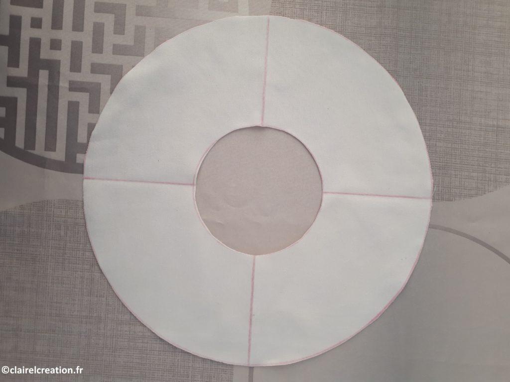 Découpe des pièces de tissus de la bouée (cercle intérieur) 2
