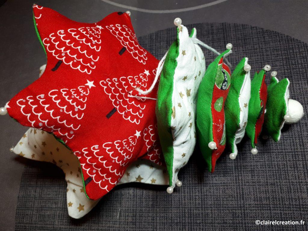 Montage des 7 étoiles du sapin de Noël