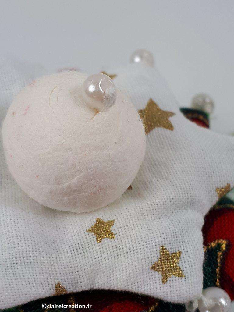 Perles du sommet du sapin