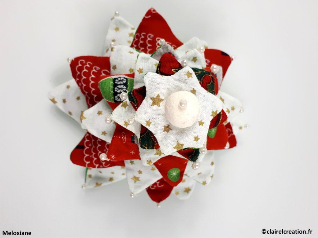 Coudre un joli sapin de Noël à 7 étoiles - Vue de dessus