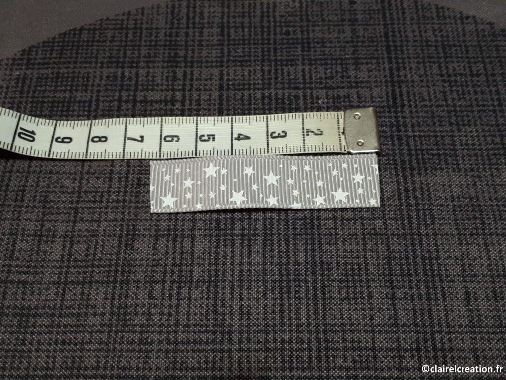 Découpe du ruban décoratif (6 cm)